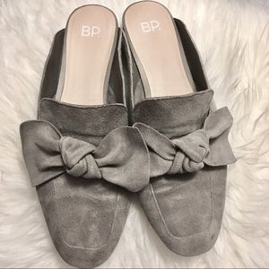 BP Soft Grey Suede mules from Nordstrom, size 9